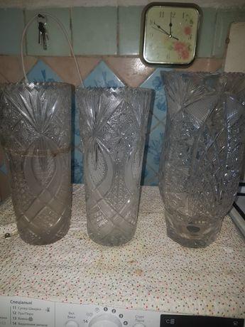 Продам хрустальные вазы