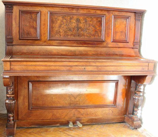 Немецкое пианино J.G. Jrmler / Irmler Антикварное, винтаж 1893