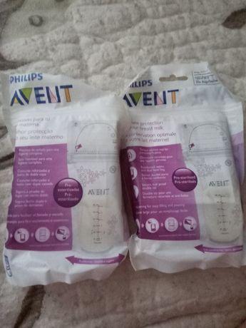 Одноразовые бутылочки для молока AVENT