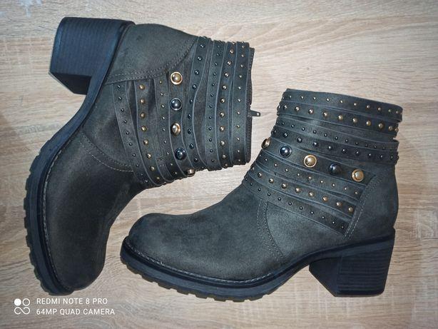 Сапоги женские  демисезонные р.42 ботинки,Grageland.туфли.