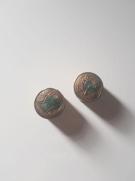 Pudełka szkatułeczki na biżuterię ze znakami zodiaku vintage