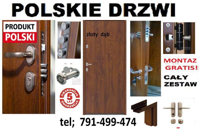 KRÓTKIE TERMINY -drzwi z MONTAŻEM do mieszkania Zewnętrzne