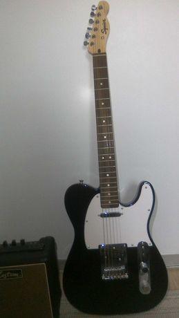 Gitara elektryczna (Fender SQ Bullet Tele LRL BLK) ze wzmacniaczem