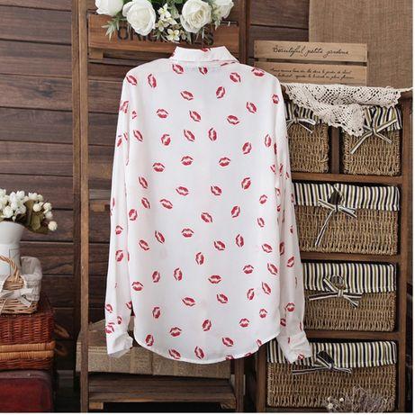 Шифоновая блуза с оригинальным принтом