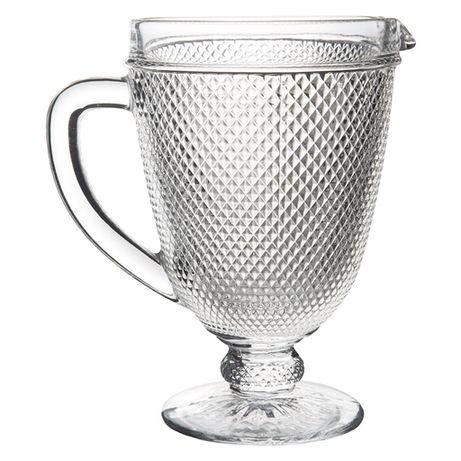 """Jarro de 1 litro """"Picos"""" ou """"Bicos"""" Transparente"""