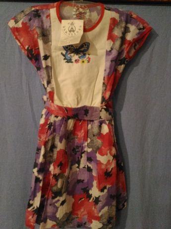 Платье детское летнее (разм. 30) 100% хлопок, на рост 110см