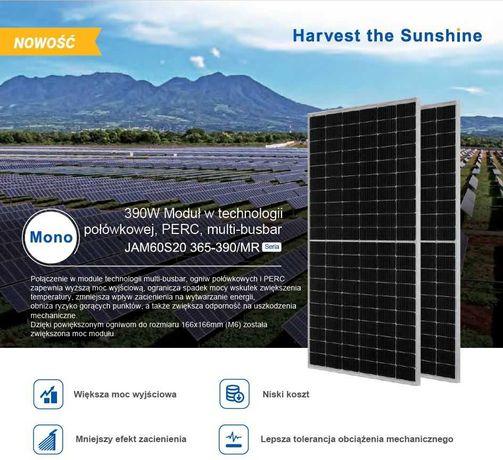 Panele fotowoltaiczne JA SOLAR JAM60S20-385/MR Half-Cut NOWE