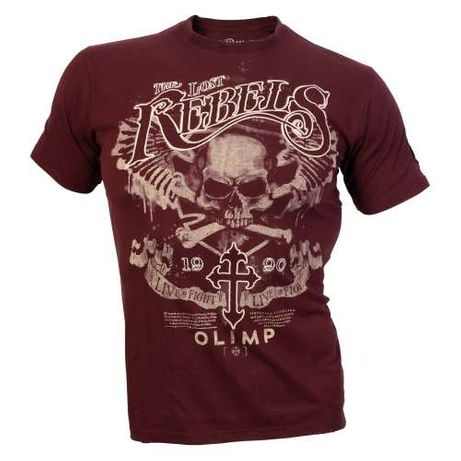 Super Koszulka Olimp LOST REBELS Burgund Ostatnie 2 sztuki XL!!!