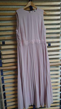 Sukienka Suknia pudrowy róż r 44-46
