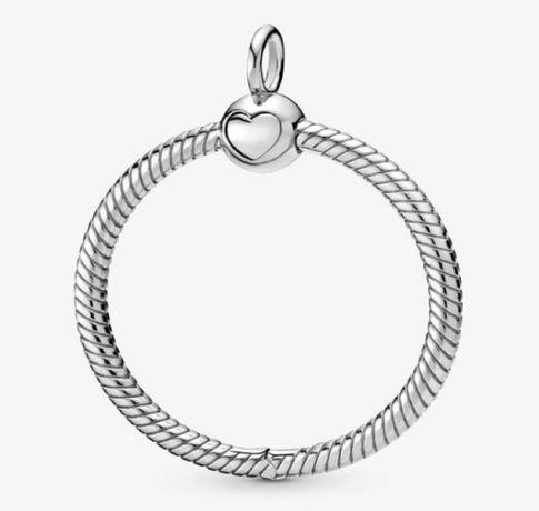 Zawieszka i naszyjnik O do Pandora srebro 925 idealne na prezent