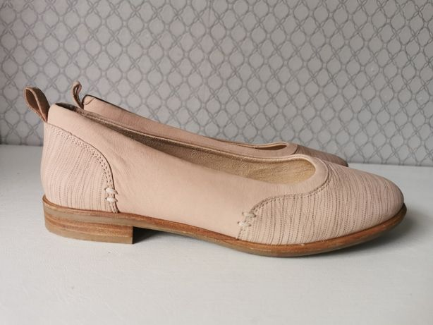 Clarks Alice Ivy 35,5/36 23cm skóra NOWE baleriny damskie wygodne