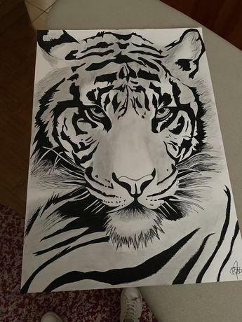 Tigre desenhado à mao