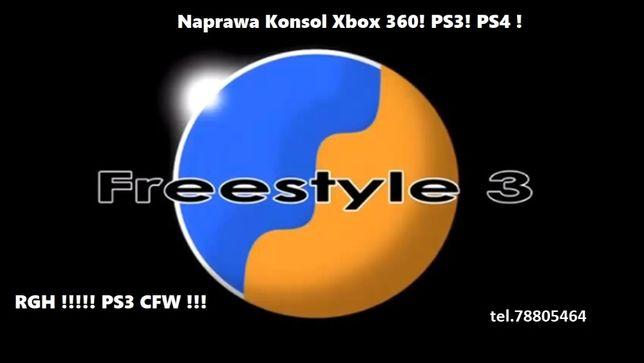 !!Naprawa Konsol Xbox 360!PS3 CFW!PS4!RGH!ACE v3,v4,v5,Matrix v3!