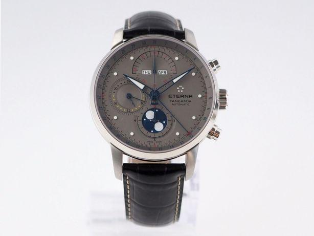 Мужские новые часы Eterna Tangaroa Moonphase Chronograph 42 мм