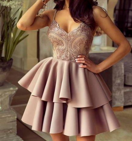 Sukienka rozkloszowana na wesele i imprezy okolicznościowe