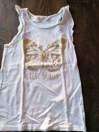 Piękna bluzeczka marki H&M dla dziewczynki! 122 cm