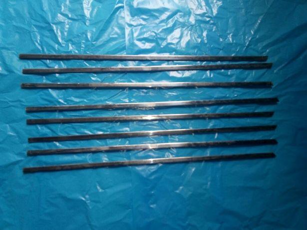 Уплотнители стекол бархотки Хром металические Ваз 2101-07