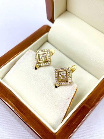 Złote kolczyki pr.585 14k - PLUS Lombard