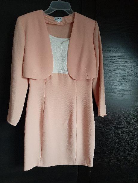 Sukienka koktajlowa mini z bolerkiem roz. 36