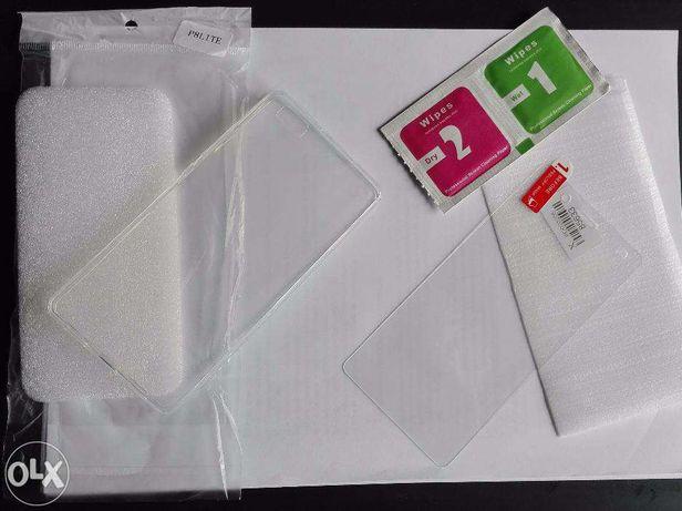 Capa e película temperada vidro poco x3 Huawei e Xiaomi
