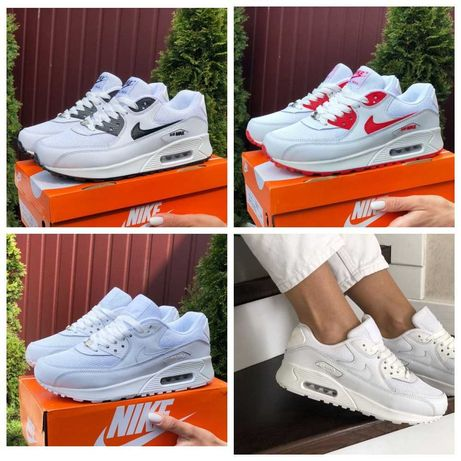 Женские кроссовки Nike Air Max 90 Летние кросы Найк аир макс 90 белые