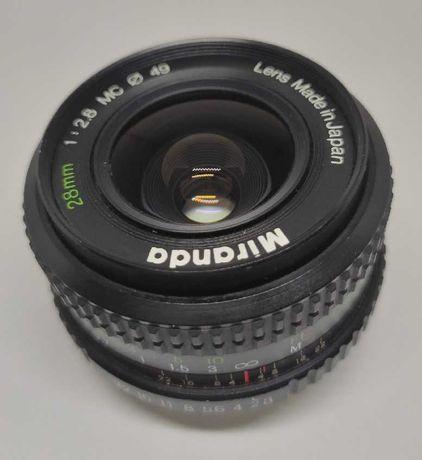 Objectiva Miranda MC 28mm f/2.8 PK