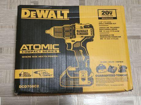 DeWalt DCD708C2 шуруповерт Atomic серия