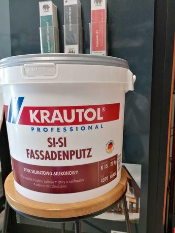 Tynk Silikatowo-Silikonowy k15 25kg Krautol