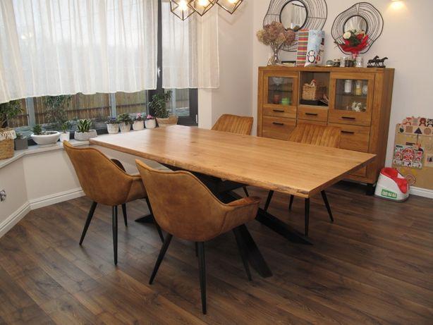 Stół dębowy lity rozkładany loft 80x220 pająk dostaw i montaż w cenie