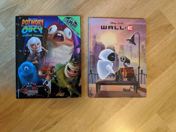 Wall-E, Potwory Kontra Obcy - Książki dla dzieci
