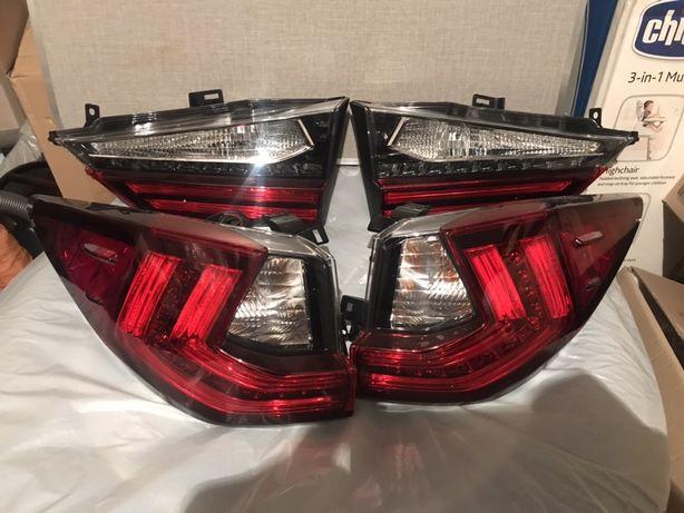 Продам фонарь левый в ляду, стойку, оригиналLexus rx 350 USA 2016-2019
