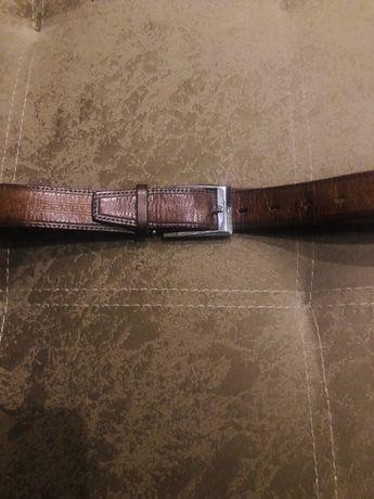 Ремень кожаный для подростка 90 см