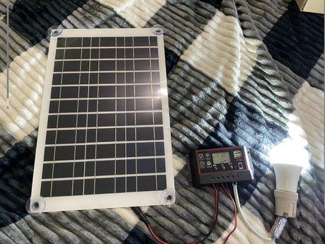 Сонячна панель 30вт + контроллер
