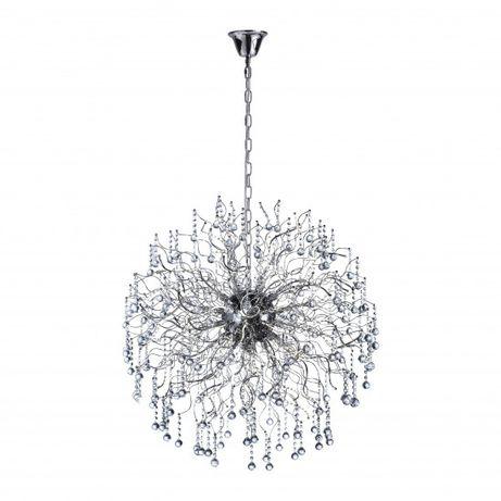 OUTLET Kryształowa lampa kula Glamour 2415-17 sala weselna NELLI
