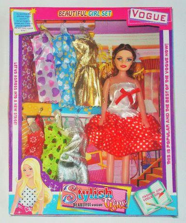 Lalka z ubrankami Zestaw suknie sukienki Stylish Vogue