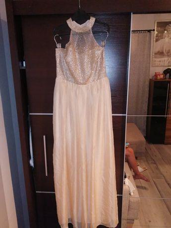 Sukienka złota sylwestrowa