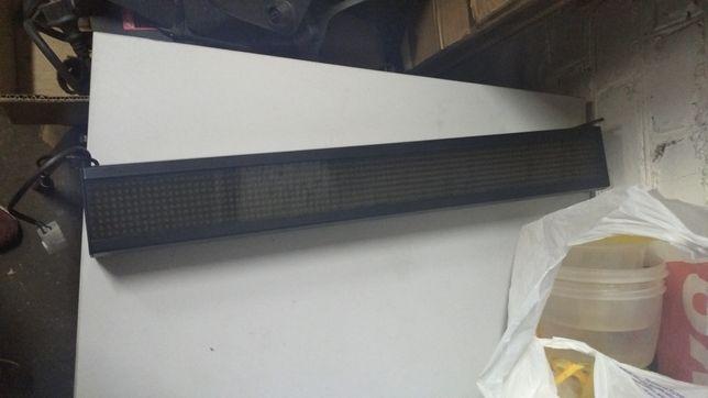 Бегущая строка, табло, Светодиодная линейная вывеска LED