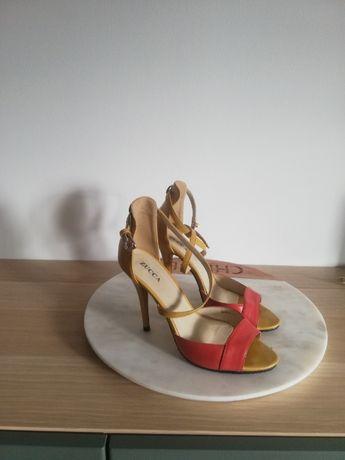 Szpilki, buty letnie, wysoki obcas, żółte szpilki
