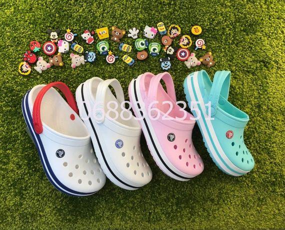 Женские Кроксы самая удобная ортопедическая обувь Crocs Crocband