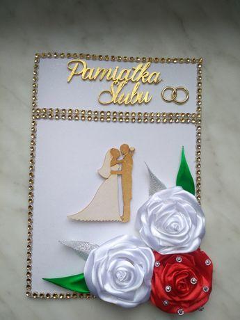 Kartki pamiątkowe z okazji Ślubu, Chrztu itp. Rękodzieło