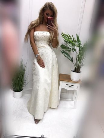 Suknia ślub cywilny nowa 40