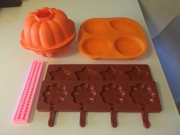 Formas para Bolos, gelados, chupas ou chocolate- Em silicone