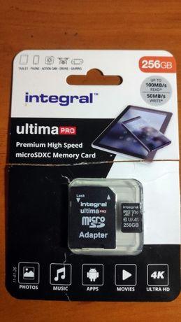 Karta MicroSD Integral Ultima Pro 256GB V30 U1 Odczyt 98, zapis 92MB/s