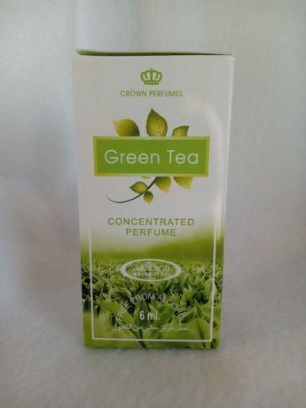 Женские арабские духи al rehab green tea цитрусовый запах 6 мл