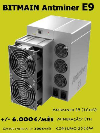 NOVA-Bitmain Antminer E9 - 3000 Mh/s - 2556W