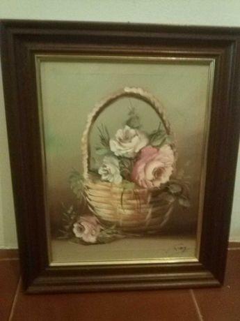Quadro de flores em tela