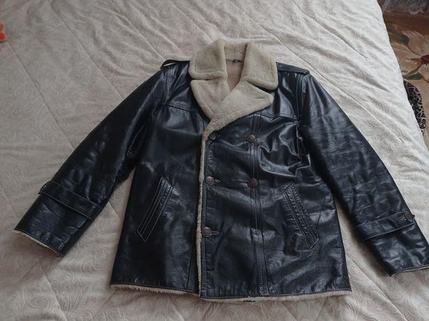 Куртка шкіряна з натуральним хутром
