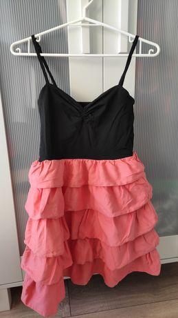 Śliczna sukienka z falbanką H&M r. S 36