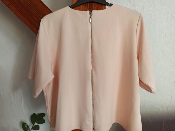 Mojito bluzka top pudrowy róż brzoskwiniowy z zamkiem r. S 36