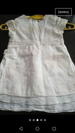 Sukienka biała 86cm